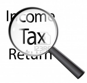 8773411-magnifying-glass-on-income-tax-return